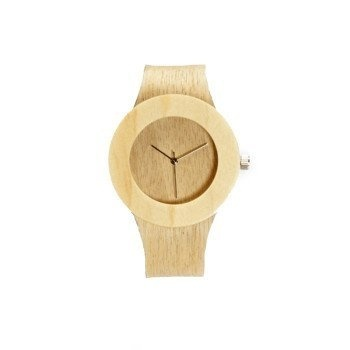 Each iconic and minimalist watch is unique with its own wood grain pattern. #design #iconic #wood #product #industrial #minimal #watch #style
