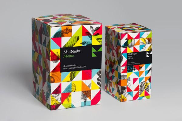 MidnightDrinks The Dieline #packaging