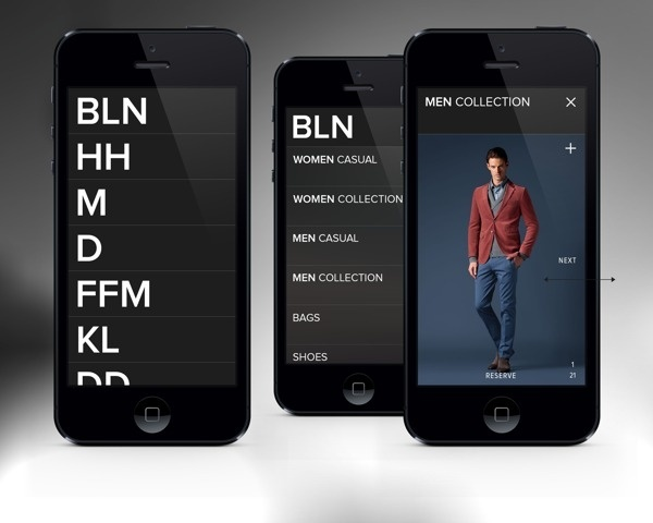 JOOP! Assistent iPhone App on Behance #swiss #white #ios #black #iphone #fashio #type