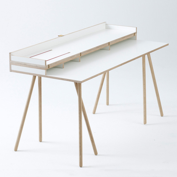 Doppeldecker Table by Bernotat&Co #furniture #design #desk #minimal