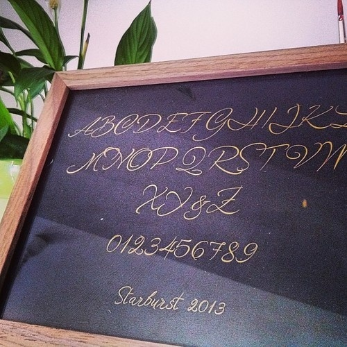Starburst in a frame! www.resistenza.es/stardurstfont #starburst #font #typography