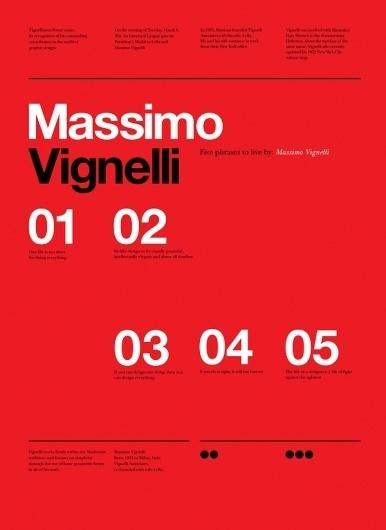 Vignelli Forever on the Behance Network #vignelli #print #design #graphic #poster