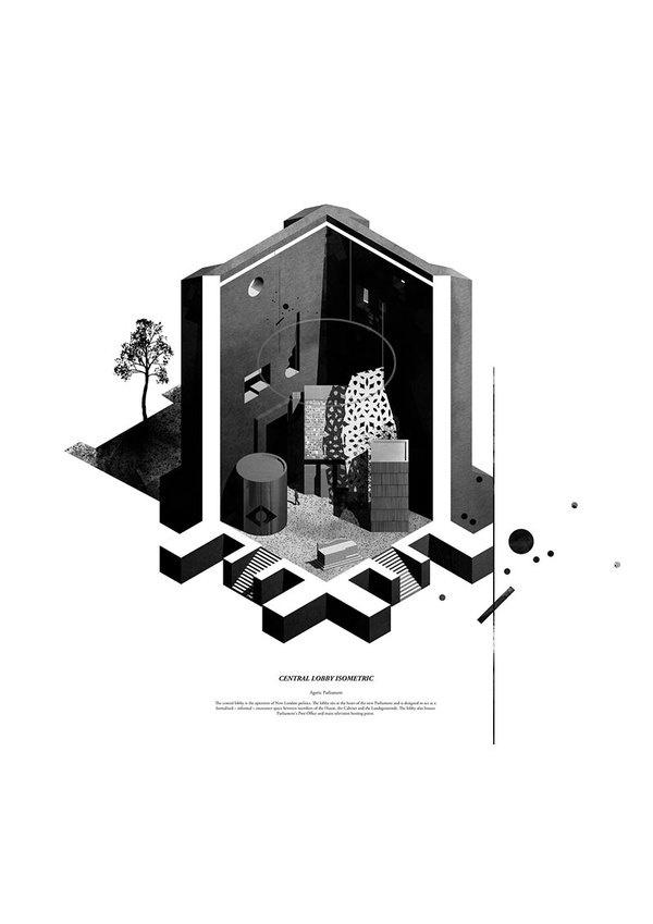 kieran wardle 02 #rendering #architecture #drawing