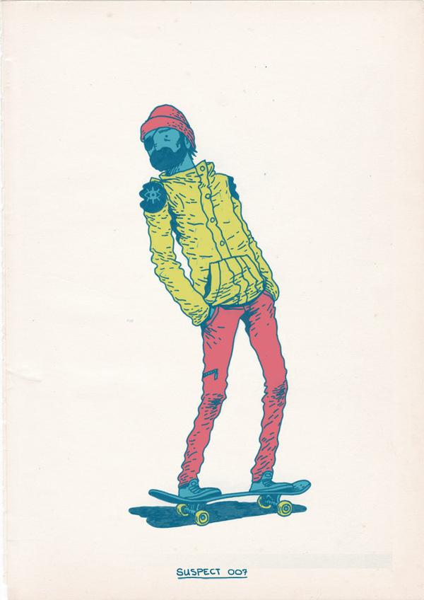 Skateboarding-is-a-Crime-4 #skateboarding #illustration #colorful #yamashita #awesome