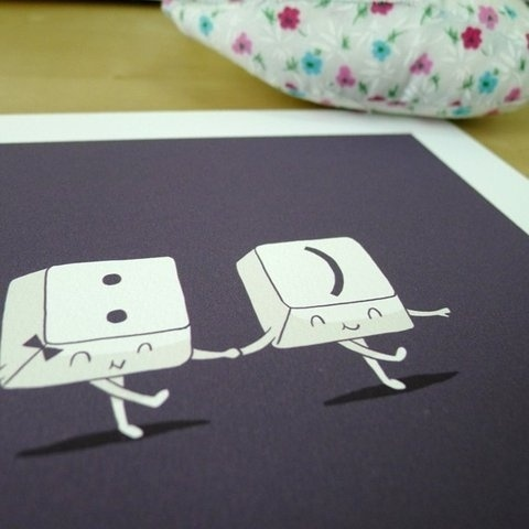 FFFFOUND! | Happy Ever After Print by ilovedoodle on Etsy #illustration
