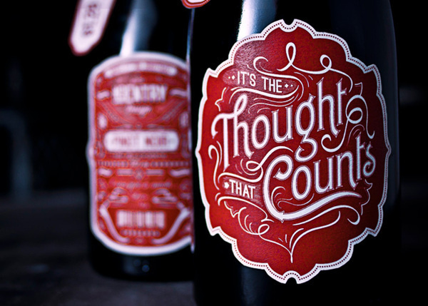 It's the Thought that Counts on Behance #label #bottle