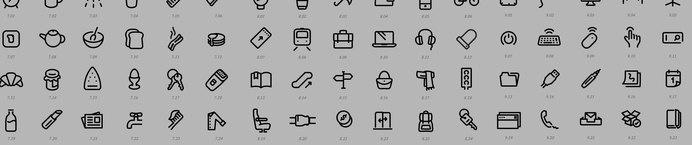 Joe Harrison - Design & Interaction #iconset #iconography #monoline #icons #illustration