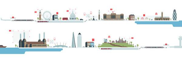 London Hub city illustrations, england #infographics #city #design #london #illustrations #england