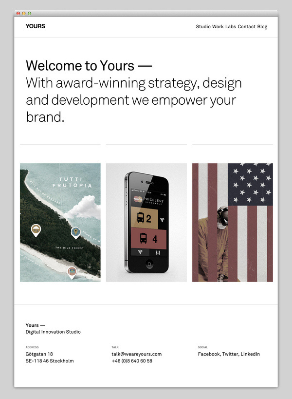Yours #website #layout #design #web