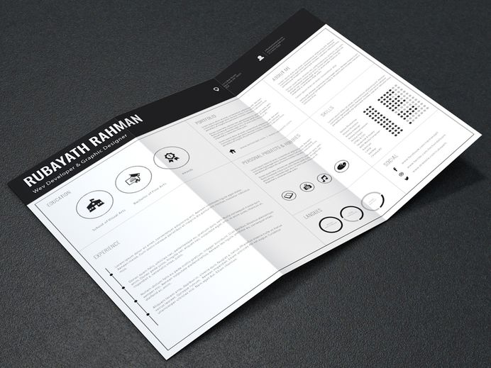 Best Free Resume Template Clean Horizontal images on Designspiration