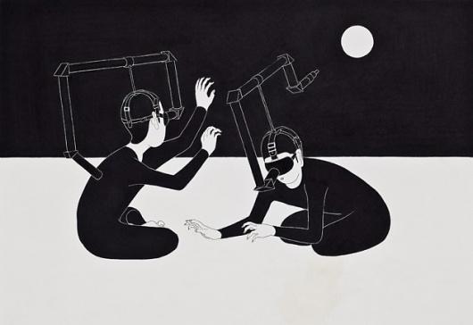 Moonassi – Illustration inspiration on MONOmoda #illustration #blackwhite #moonassi