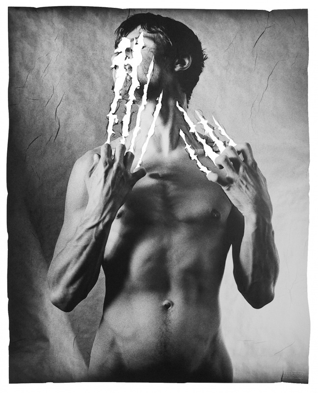 Gellage No. 7, 1989, 79x66 cm, limited edition of 12 copies #inspiration #michal #macku #experimental #photography #art