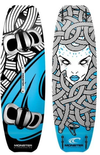 MONSTER KITEBOARDING | Voltio | Estudio de Diseño Gráfico e Ilustración en Valencia #vector #illustrator #design #graphic #illustration #skateboard