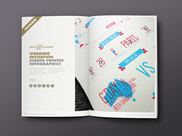 Behance :: STUDIOJQ SELF PROMO by Jonathan Quintin #infographics #portfolio #quintin #clean #bristol #studio #gold #studiojq #layout #editorial #brochure #typography