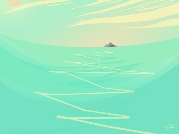 The Screensaver in my brain #sun #ocea #island #sea #summer #blue #green