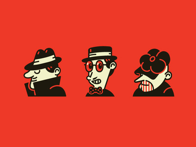Mafia characters #mafia #vector #design #illustration #character