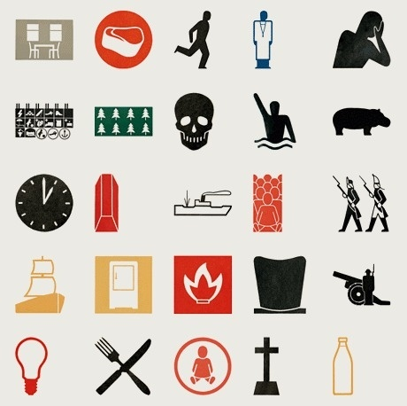 The Pictograms of Gerd Arntz   Colorcubic #pictogram #icon #logo #gerd #arntz