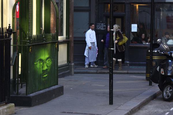 Mentalgassi for Troy Davis, London unurth | street art #lenticular