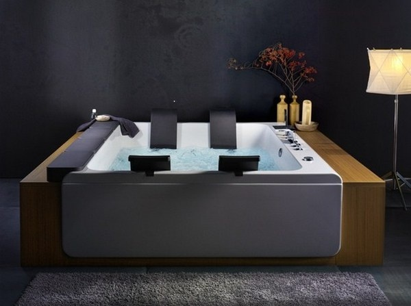 Modern art whirlpool bathtub #artistic #bathroom #furniture #art #bathtub