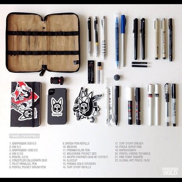 Likes #pen #art supplies #essentials #phidias gold