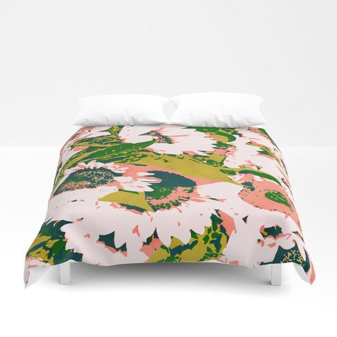 Sunny Garden #painting #nature Duvet Cover #homedecor #duvetcover #floral #sunflower #society6 #shop #83oranges