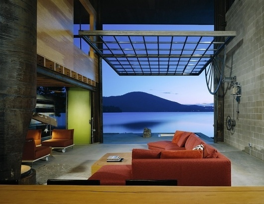 Chicken Point Cabin » ISO50 Blog – The Blog of Scott Hansen (Tycho / ISO50) #interior #steel #modern #architects #wood #olson #kundig