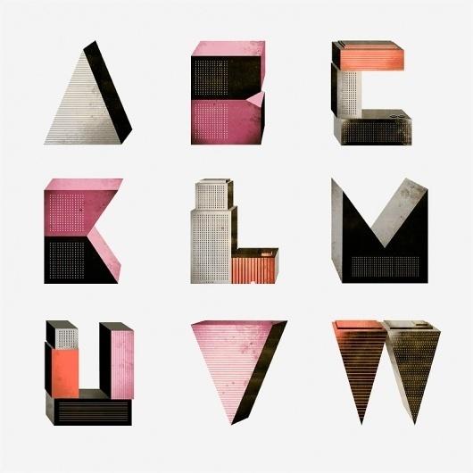 Borja Bonaque – Letters « Whitezine | Design Graphic & Photography Inspirations #abstract #illustration #typography