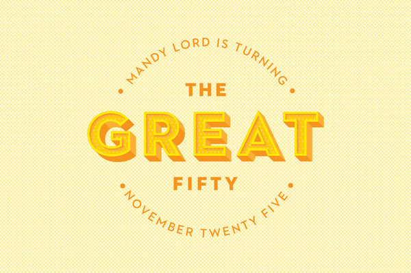 The Great Fifty #fifty #lettering #pattern #invitation #gatsby #website #illustration #colour