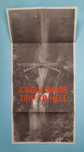 Morey Talmor – Graphic Design   A NIGHTMARE TRIP TO HELL #newsprint #poster #typography