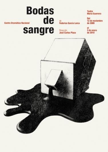 CDN : Isidro Ferrer #blood #ferrer #huesca #spain #house #theatre #isidro #illustration #poster