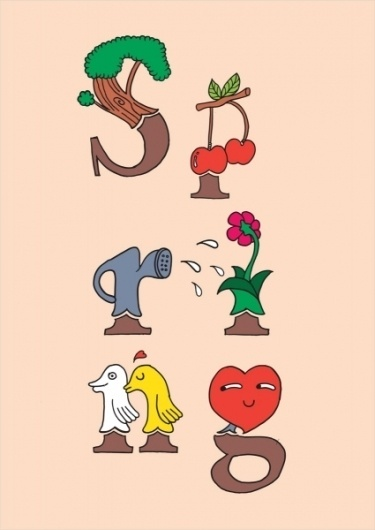 4 Seasons : antoniocolomboni.com #illustration #graphic #scombinanto #seasons