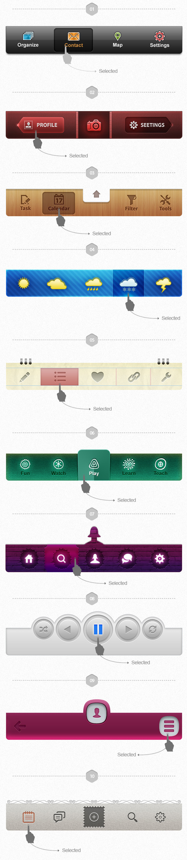 UI Pack for iOS Volume II Build Apps. #controls #design #ui #iphone #element #ios #buttons