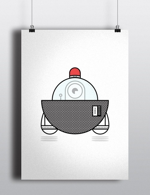 UFO #characters #stroke #illustration #creatures #minimal #aliens #outline #character #ufo #robots