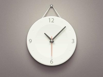 Dribbble - Clock by Paco #clock #minimal