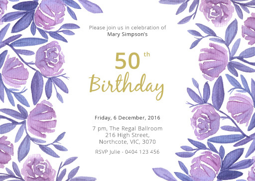 Best birthday floral likes 50th images on designspiration floral 50th birthday birthday invitations paperlust paper print design floral filmwisefo