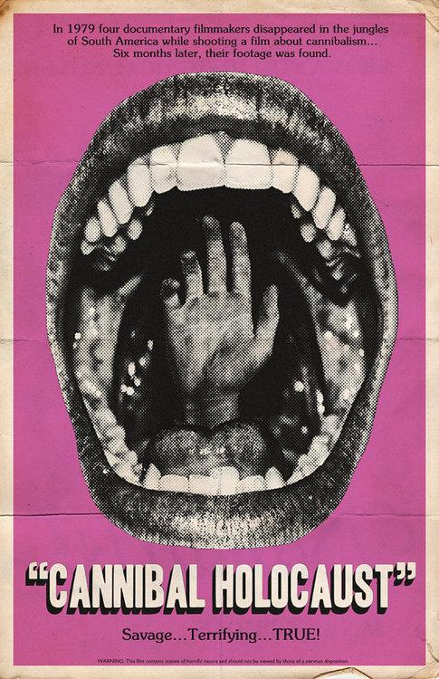 sprscrpt: Trevor Dunt // Cannibal Holocaust #poster
