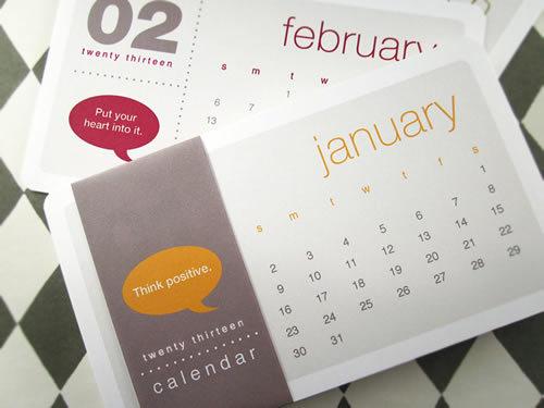Think Positive #calendar
