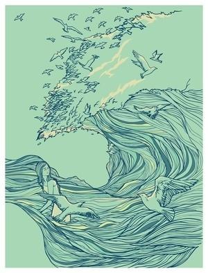 Ocean Breath - Society6 #ocean #bird