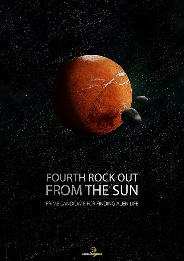 Fourth Rock Out Poster   CreativeJUUS #brian #universe #cox #rock #of #design #graphic #out #the #mars #fourth #poster #wonders