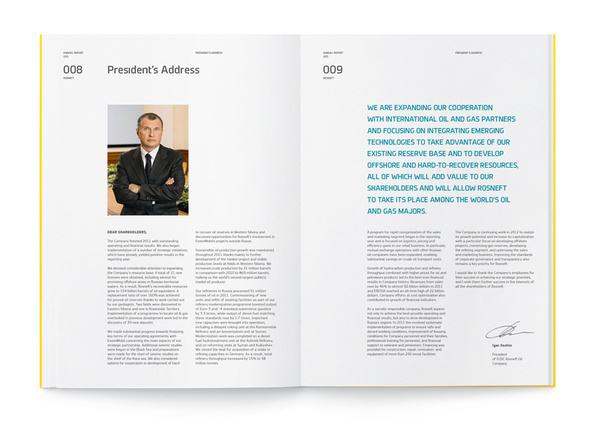 """Rosneft"", Annual Report 2011 on Behance #annual #report"