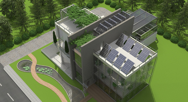 Green House Tech Industrial Villa Sera Design #tech #amazing #modern #innovation #design #futuristic #gadget #ideas #craft #illustration #industrial #concept #art #cool