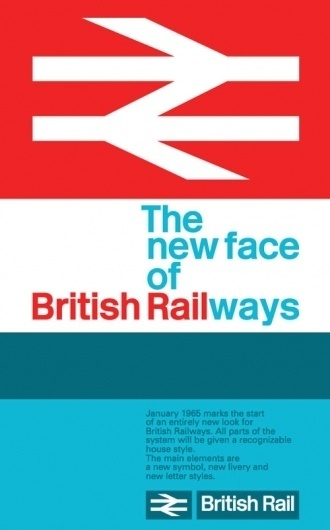 British Rail's double-arrow | Logo Design Love #poster