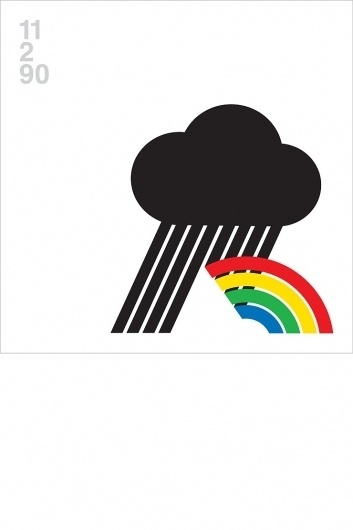 Blanka || Supersize #cloud #helvetica #rainbow #poster