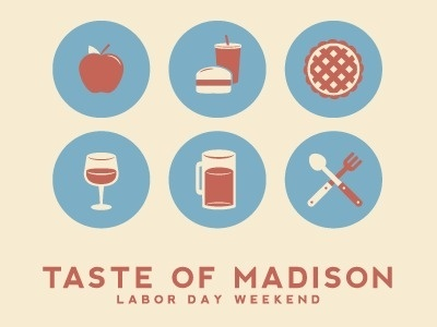 Dribbble - Taste of Madison Icons by Justin Blumer #icons #food