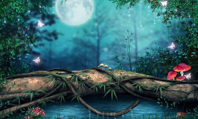 Fantasy Forest Tree Bridge Hd High Wallpaper – WallpapersBae