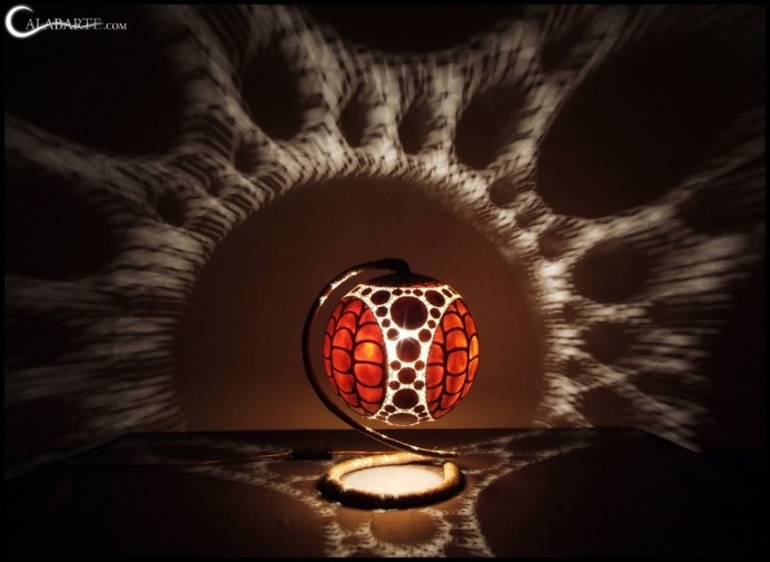 Handcrafted gourd lamps