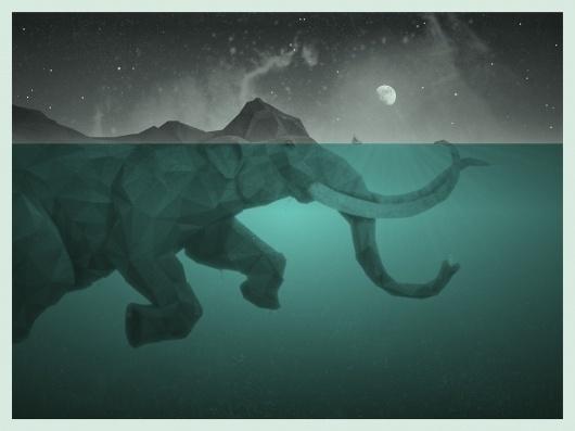 DKNG Studios | BLDGWLF #illustration #painting #elephant
