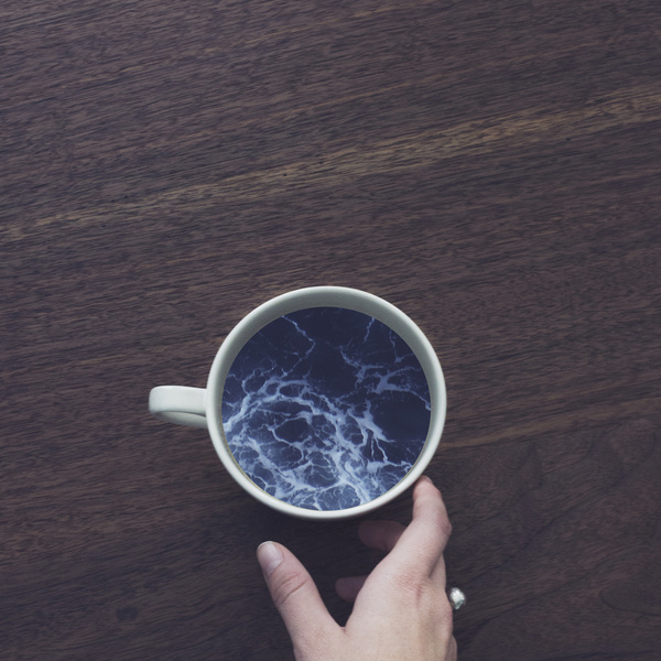 Surreal coffee cup