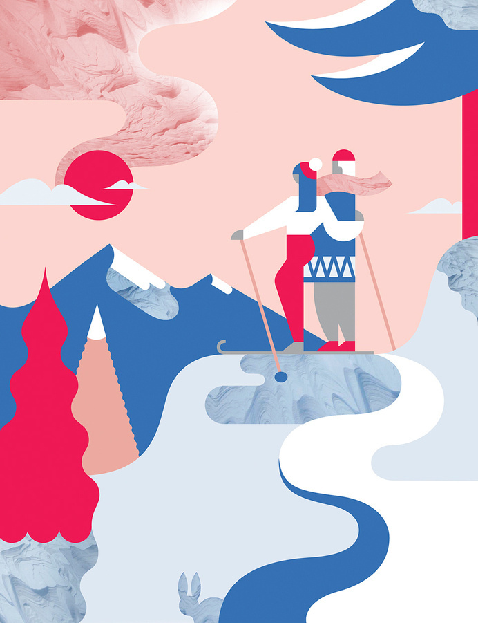 Lapland by Janine Rewell — Agent Pekka #illustration #graphic #editorial