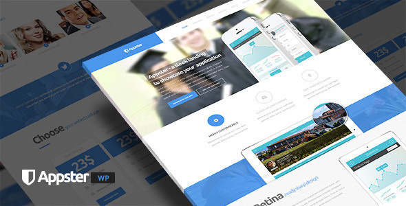 Appster - Mobile App Landing Page WordPress Theme